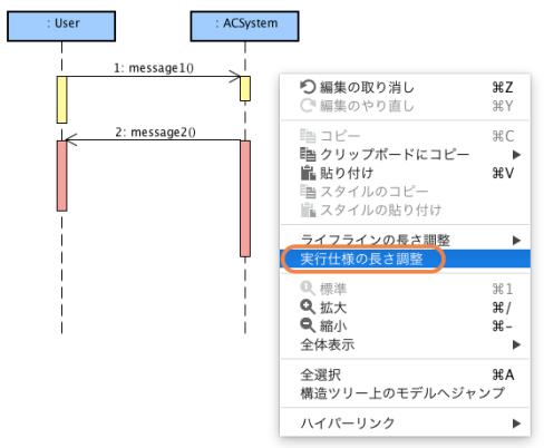 シーケンス図, UML, 実行仕様, 活性区間
